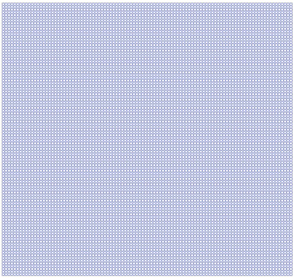 1円玉を100x100で縦横に並べた図です。